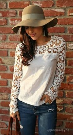 Cut Out Crochet Top and that hat...!