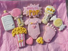 Ready to pop baby shower cookies by Ali-vmay