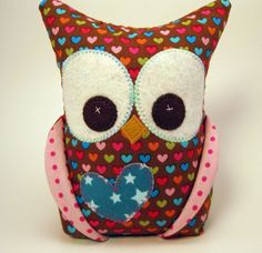 Owl Bookend Riley Blake READY TO SHIP by aprilfoss on Etsy, $26.00