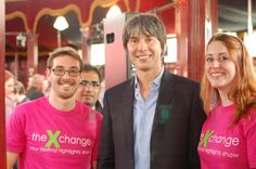 Dec 17 x-change volunteers hang out with Brian Cox in Aberdeen. #science #volunteering #charity #briancox