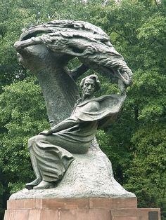 chopin statue - warszawa