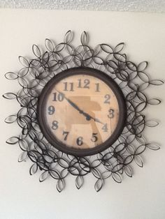 Repurposed toilet paper roll decorative clock...
