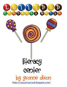 Fern's Freebie Friday ~ Lollipop Compound Words Literacy Center at TPT! FREEBIE!