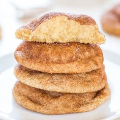 The Best Snickerdoodles - Soft, pillowy puffs that are so irresistible! The closest to Mrs. Fields snickerdoodles that you'll find!