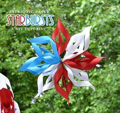 Patriotic starburst paper craft