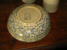 Roseville Bowl ~spongeware