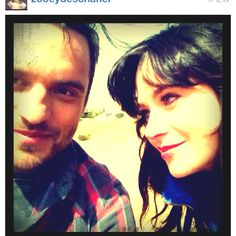 Jake Johnson and Zooey Deschanel aka Nick and Jess from New Girl - I LOVE THIS SHOWWWWW