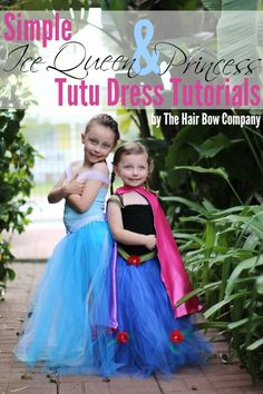 Ice Queen and Princess Tutu Dress Tutorial | Great source for supplies!