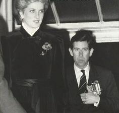 November 8, 1986:  Prince Charles & Princess Diana at the annual Royal British Legion Festival of Remembrance at Royal Albert Hall.