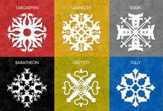 Crafts: Game Of Thrones House Sigil Paper Snowflakes