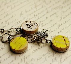 Art is Life Recycled Wine Cork Necklace Wine Cork by uncorked