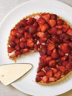 Recipes from The Nest - Strawberry Creme Fraiche Tart