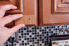 How to install kitchen cabinet knobs