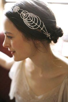 Bridal Cosmos Bandeaux by Jennifer Behr