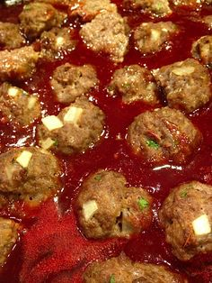 Easy Saucy Meatballs | www.ReluctantEntertainer.com #recipe #appetizer