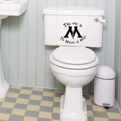 This Way to The Ministry of Magic Harry Potter Toilet Decal. $14.99, via Etsy.