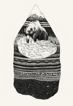pat perri, bears, bear drawings, art pat, design, illustr, ink, alaska drawing, alaska art