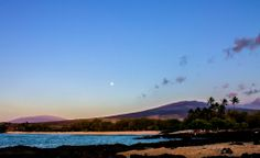 Moon Over Mahaiula Beach, Big Island | Hawaii Pictures of the Day