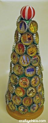 bottle cap tree... interesting, with lots of potential