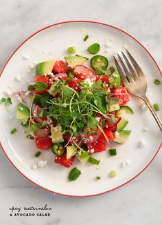 This healthy salad is equal parts sweet and tangy.