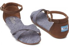 Need these for summer!!!  Blue Chambray Women's Correa Sandals hero