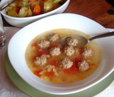 "Mini Meatball Broth - it's the Italian ""chicken soup"" to heal all that ails (pressure cooker recipe)"
