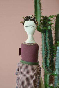 Frida doll in Apron costume   Vinny dolls