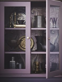 Richly Decorated Purple Cabinet |photo Angus Fergusson |design Joel Bray |House & Home