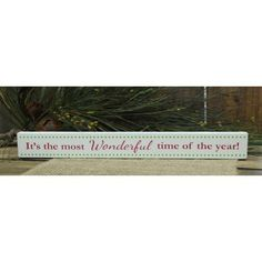 Christmas Skinny Sign: It's the Most Wonderful Time Of Year!