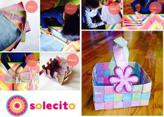 We painted a recycled bag and then we turned it into a cute basket, you can do it too! Tu también puedes! (Canasta de papel) www.solecitoschool.com