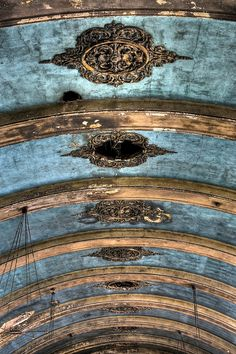 The Great Hall Ceiling: Hellingly Hospital in Hailsham, England