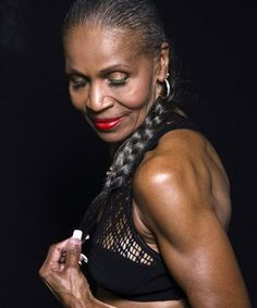 Meet Ernestine Shepherd, a self-proclaimed couch potato who didn't start exercising until her 50s, and then began competitive bodybuilding in her 70s! She's 74 now and trains others at gyms in her home town of Baltimore, MD.