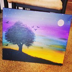 Canvas DIY art.