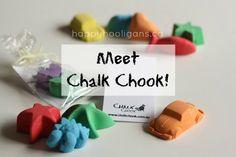 meet chalk chook - a gift of homemade chalk