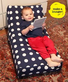 DIY kiddie lounger and other cute kid crafts