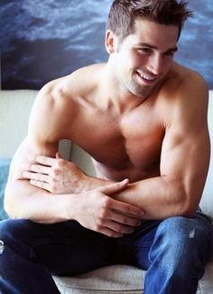 Cute guy in jeans