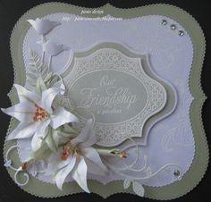 femal card, die cut, card idea, cut card, friendship cards