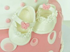 A Pair of Fondant Baby Shoes Cake Topper. by MaddysSugarArt, $25.00