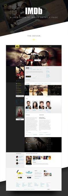 IMDB Movies Page Redesign