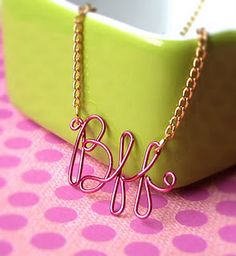 Scripted Necklace