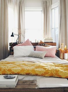 eclectic, sunny room