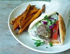 Mediterranean Meatball Gyro Sandwich