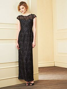 Alfred Angelo Bridesmaid Style 7279L in Black/Charcoal