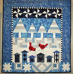 winter themed wall hanging