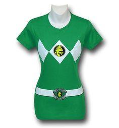 Images of Power Rangers Green Ranger Women's T-Shirt