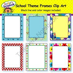 Free winter frames clipart bundle from merry christmas
