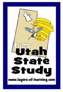 Utah state study for kids with a printable map