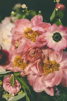 pink roses, pink flowers, bouquet, garden parties, dusty rose, floral, blush, peoni