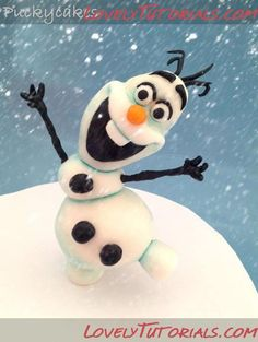 """modeling DIY for """"Olaf"""" the snowman"""