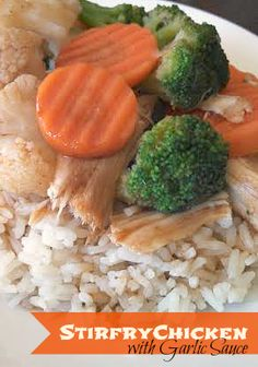 This Chicken Stir Fry with Garlic Sauce Recipe is super easy and healthy dinner idea to start out the New Year!